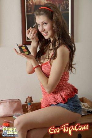 Студентка в миниюбке